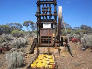 Derelict old mine equipment